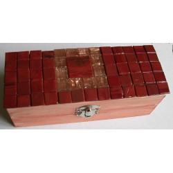 Scatola mosaico rossa