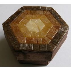 Scatola mosaico marrone