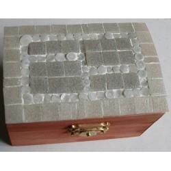 Scatola mosaico grigia  con...